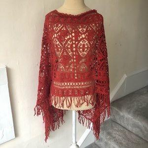 Soft Surroundings Crochet Spice Adana Poncho NWT